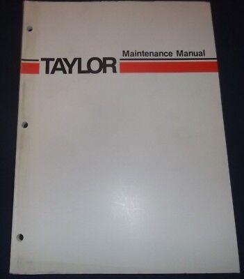 Taylor Gt-190 Forklift Lift Truck Service Maintenance Manual Book