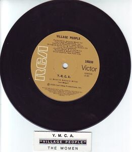 VILLAGE-PEOPLE-Y-M-C-A-YMCA-7-45-rpm-vinyl-record-juke-box-title-strip