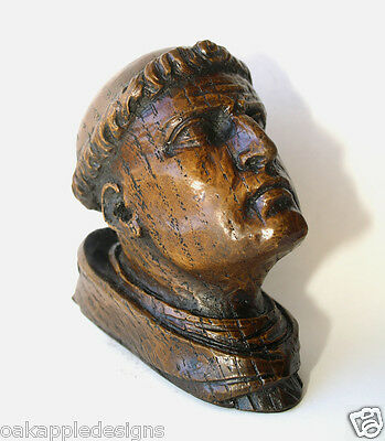 Monk's Head Medieval Reproduction Carving Exeter Cathedral Chapel Church Gift