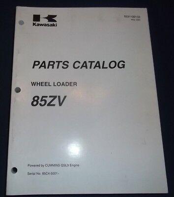 Kawasaki 85zv Wheel Loader Parts Catalog Book Manual Sn 85c4-5001-up