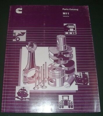 CUMMINS M11 INDUSTRIAL ENGINE PARTS BOOK MANUAL