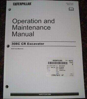 Cat Caterpillar 308c Cr Excavator Operation Maintenance Book Manual Sn Kcx