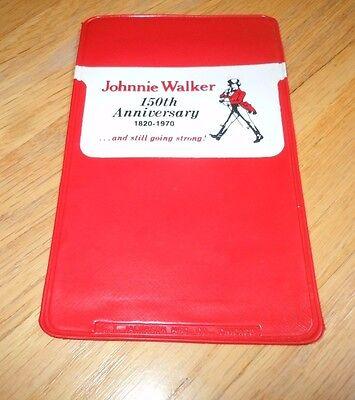 1970 JOHNNIE WALKER 150th ANNIVERSARY POCKET PROTECTOR 1820-1970