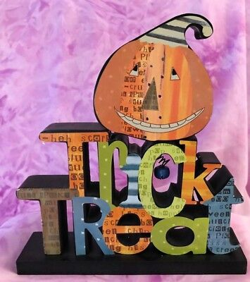 Halloween Trick or Treat Wendy Bentley Whimsical Wooden Home Decor