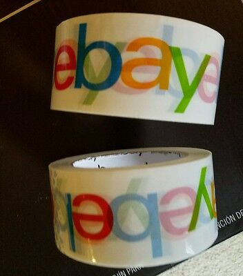 (2 rolls Official eBay Branded BOPP Packaging Scotch Tape -shipping supplies sale)