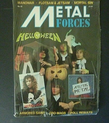 RARE SEALED HELLOWEEN METALLICA 1987 VINTAGE ORIG METAL FORCES MUSIC MAGAZINE