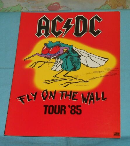 vintage original AC/DC FLY ON THE WALL 1985 TOUR PROGRAM