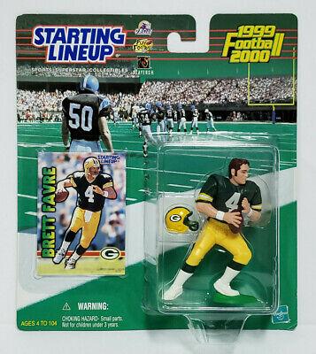 BRETT FAVRE - Green Bay Packers NFL Starting Lineup SLU 1999-2000 Figure & Card Brett Favre Packers Figure