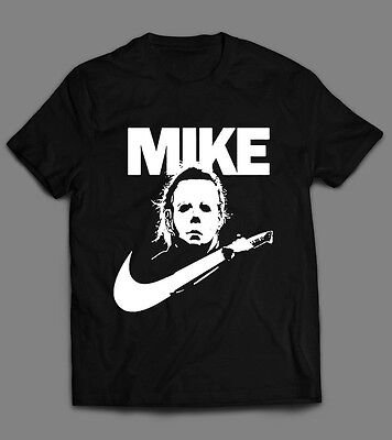 MIKE MYERS NIKE MASHUP HALLOWEEN HORROR MOVIE FUNNY SHIRT FULL FRONT DTG DESIGN - Funny Halloween Horror Movies