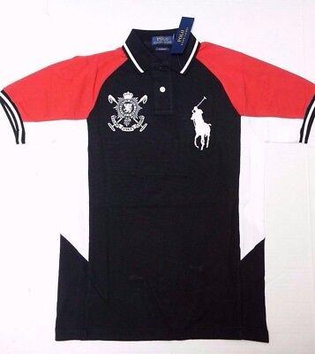 Polo Ralph Lauren Herren Schwarz Uhr Großes Pony Eigener für Baumwolle HEMD S