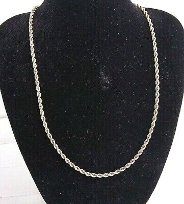Vintage rope style 14k solid gold necklace 16