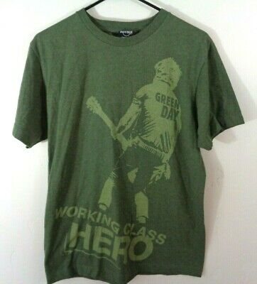 green day shirt working class hero billie joe hard rock cafe medium