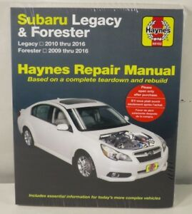 subaru legacy repair manual ebay