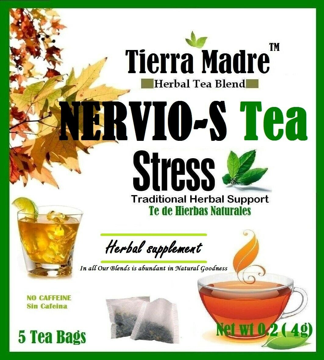 Tierra Madre nervios-S stress Tea ( 20 tea bags)