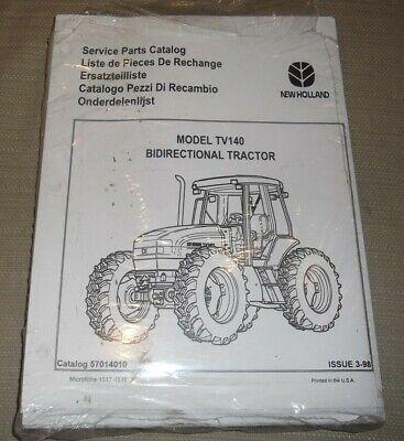 New Holland Tv140 Bidirectional Tractor Parts Manual Book Catalog