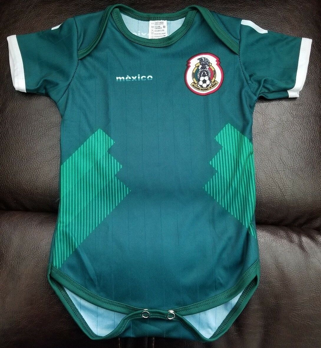 Green Mexico Baby Soccer Jersey Bodysuit Pañalero 2018 Worl