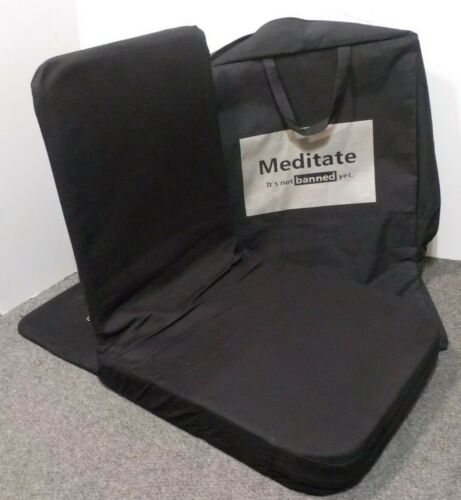 Friends of Meditation - Reading Gaming Lounger Yoga Chair 18x18 Black with Cover