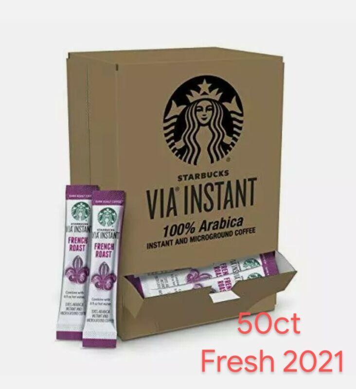 Starbucks VIA Instant French Dark Roast (50 packets) Best By 05/2021 Fresh