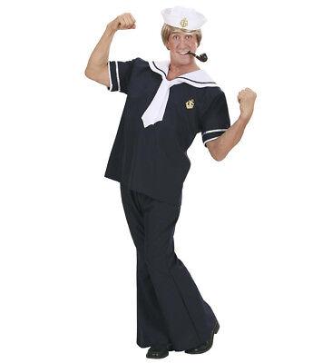WIM 73521 Matrose Marine Navy Seemann See Fasching Karneval Herren Kostüm