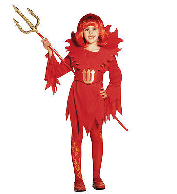 WIM 38076 Kinder Mädchen Kostüm kleiner Teufel Devil 128 140 - Kleiner Teufel Kostüm Kinder
