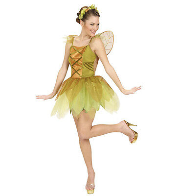 WIM 58171 Fee goldene Waldfee Elfe Pixie Fairy Fasching Karneval Damen - Pixie Fee Kostüm