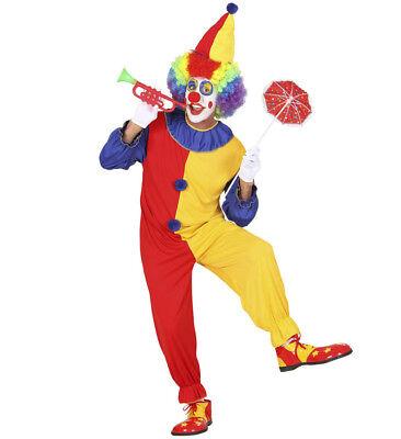 Clown Kostüm Verkleidung Karneval Halloween Fasching Zirkus Herren Mann Größe - Herren Clown Kostüm