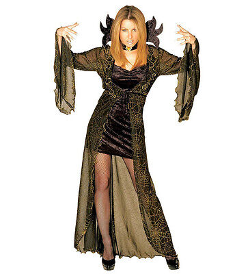 alloween Damen Kostüm Spiderella Spinnenhexe Hexe M 38/40 (Halloween-kostüme Spider)