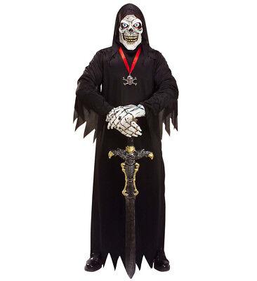 ANT 1011S Sensenmann Tod Grim Reaper Phantom Skelett Halloween Herren Kostüm  (Kostüm Grim Reaper)