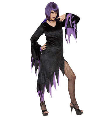 WIM 58231 Fasching Damen Kostüm Vampir Hexe Dark Mistress Vampire S-XXL lila