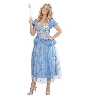 Prinzessin blaue Fee Kleid Kostüm Verkleidung Karneval Fasching Größe S