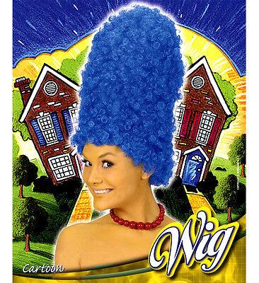 Cartoon blau für Marge Simpson Perücke für Kostüm Kostüme & Outfits (Marge Simpsons Kostüme)