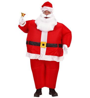 aufblasbarer Weihnachtsmann Nikolaus Santa Claus Kostüm Verkleidung - Aufblasbarer Mann Kostüm
