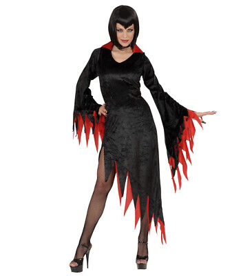 WIM 58231 Fasching Damen Kostüm Vampir Hexe Dark Mistress Vampire S-XXL schwarz