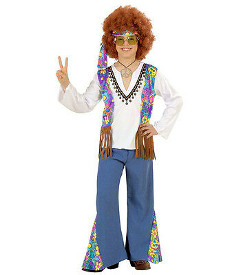 WIM 55326 Woodstock Hippie Boy 70er Flower Power Kinder Jungen Fasching Kostüm   ()