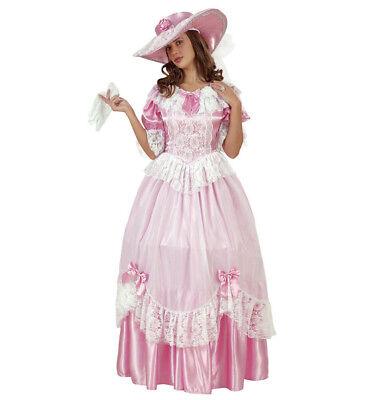 Bridal Belle Kleid Hut Prinzessin Kostüm Verkleidung rosa Karneval Größe - Rosa Belle Kostüm