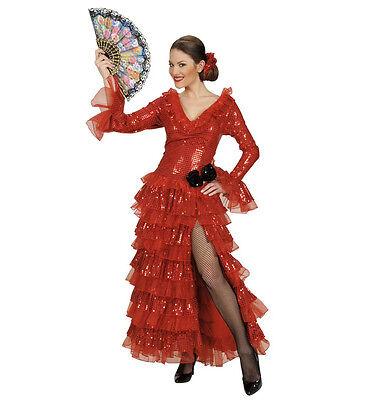WIM 90472 Spanierin Senorita Carmencita Flamenco Folklore Fasching Damen Kostüm