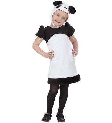 ANT 2013P Panda Bär  Pandakostüm Tierkostüm Kinder Mädchen Kostüm schwarz