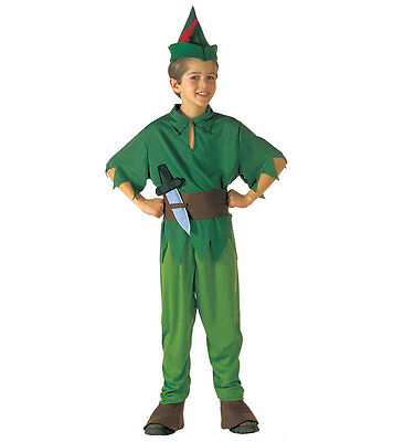 PETER PAN PETER BOYS FANCY DRESS COSTUME OUTFIT NEVER LAND ELF BOOK WEEK