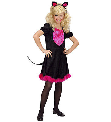 WIM 69017 Katze Kätzchen Kitty Kat Cat schwarz Kinder Fasching Mädchen Kostüm  (Kinder Kitty Katze Kostüme)