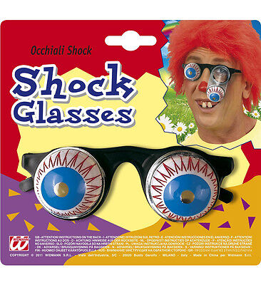 FUNNY JOKE SHOCK HORROR DROP OUT SPRING DROOPY BULGING EYE BALL GLASSES - Funny Eyeball Glasses