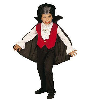 WIM 33486 Kinder Jungen Kostüm Dracula Vampir Blutsauger Graf Blood 128 140 (Blutsauger Kind Kostüm)