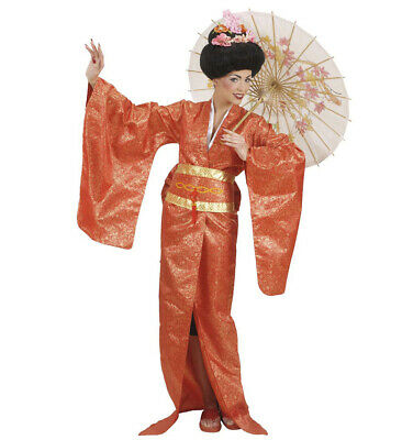 Geisha Kimono Gürtel Kostüm Verkleidung Asiatin Japanierin Karneval Größe M