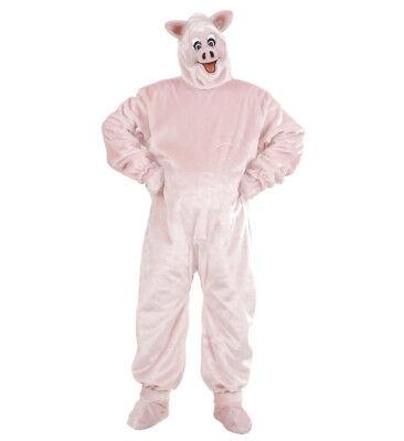 Schwein pig rosa Plüsch Kostüm Maske Onesie Verkleidung - Plüsch Schwein Maske
