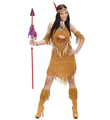 WIM 73881 Fasching Damen Kostüm Indianerin Squaw Kriegerin Tomahawk Leder - Kostüm Tomahawk