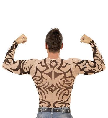 Tattoo-Shirt Tribal Fasching Longsleeve Rocker Gothic Biker Punk - Gothic Rocker Kostüm