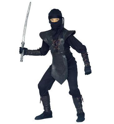 Ninja Master Kostüm Verkleidung Karneval Armatur Maske Set Größe 158 11-13 - Ninja Master Kostüm