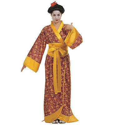 arneval Halloween Damen Kostüm Geisha Kimono Lang Japan  (Halloween-kostüm Geisha)