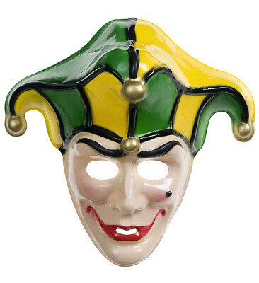 Maske Jolly Joker Jokermaske Clownsmaske Clown Verkleidung Gesichtsmaske neu ()