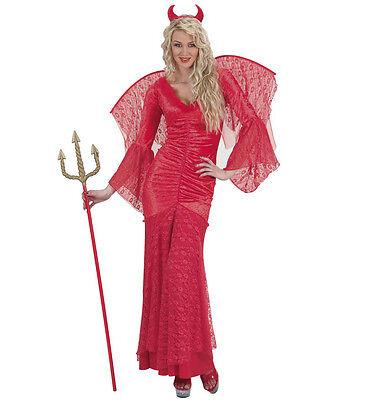 WIM 72921 Fasching Karneval Halloween Damen Kostüm Satan Teufel Samt S M L