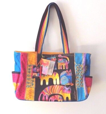 Laurel Burch NWT Colorful Cats Hand Bag